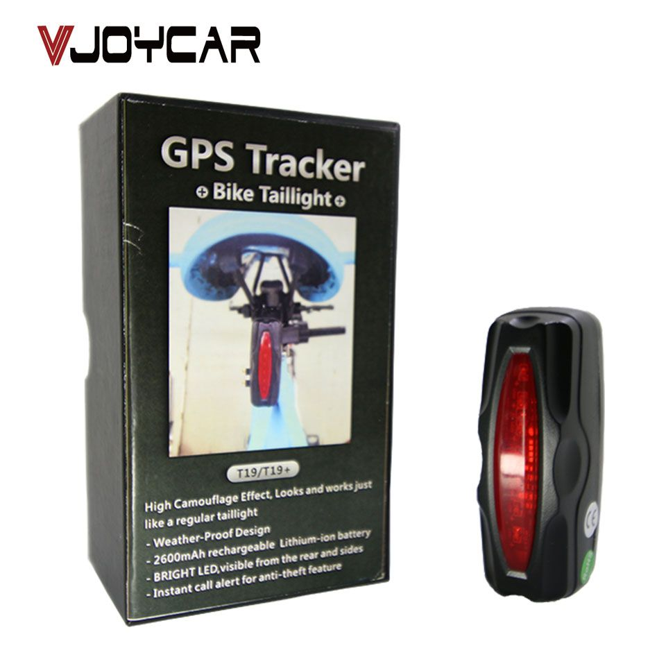 VJOYCAR T191 Tail Lamp Easy Locator Bike GPS Tracker Bicycle Alarm System Waterproof 2600mAh Battery Free Tracking Software