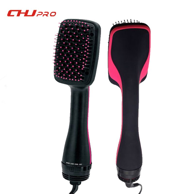 Styler Comb Hair Dryer Brush Electric Hair Blow Comb Hair Curls Salon Curling Iron Hair Curler & Straightener Free Shipping