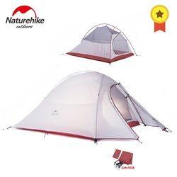 NatureHike Cloud Seri 1 2 3 Orang Ultralight Tenda Kemah Peralatan Nilon Upgrade 2 Orang Perjalanan Musim Dingin Berkemah Tenda dengan Tikar
