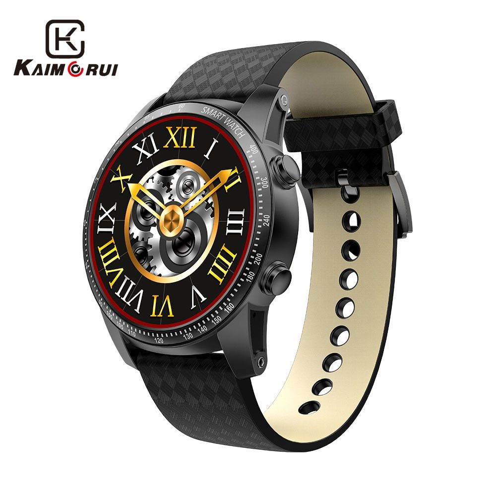 Kaimorui Android Smart Watch Bluetooth Men Watch 512MB+8GB Smartwatch SIM Card GPS WiFi For Android IOS Watch Phone