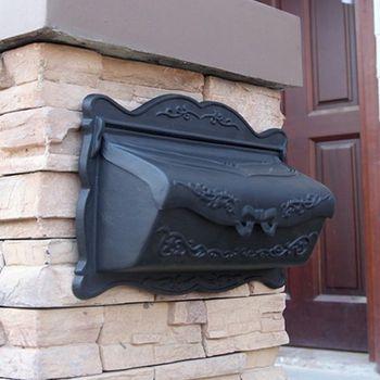 Better Box Cast Aluminum Wall Mount Mail Box - Black