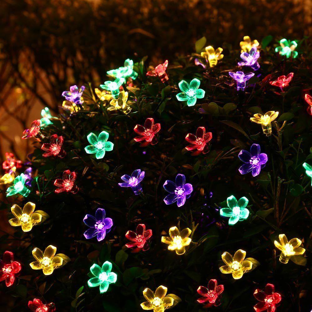 LederTEK Solar Power Fairy String Lights 7M 50 LED Peach Blossom Decorative Garden Lawn Patio Christmas Trees Wedding Party