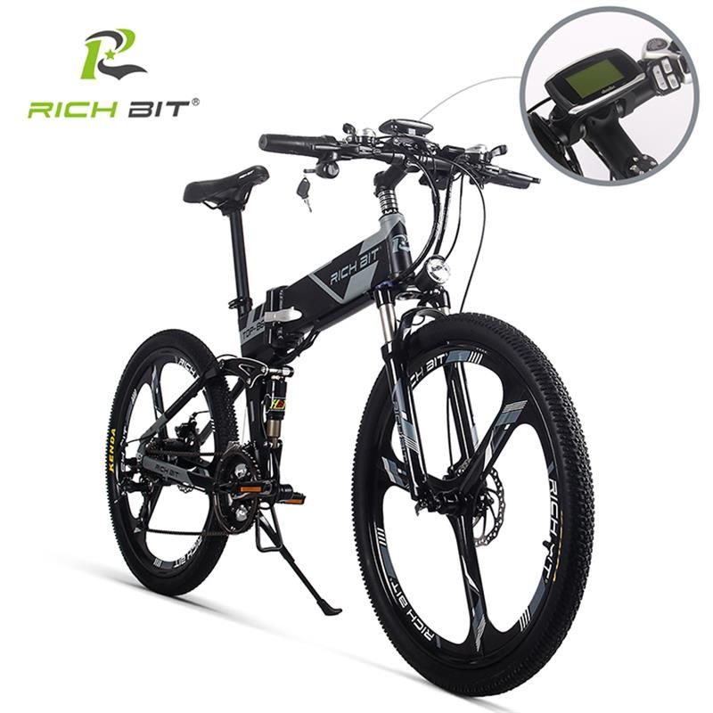 RichBit RT-860 36 V * 250 W 12.8Ah Berg Hybrid Elektrische Fahrrad Radfahren Wasserdichten Rahmen Innen Li-on Batterie klapp ebike