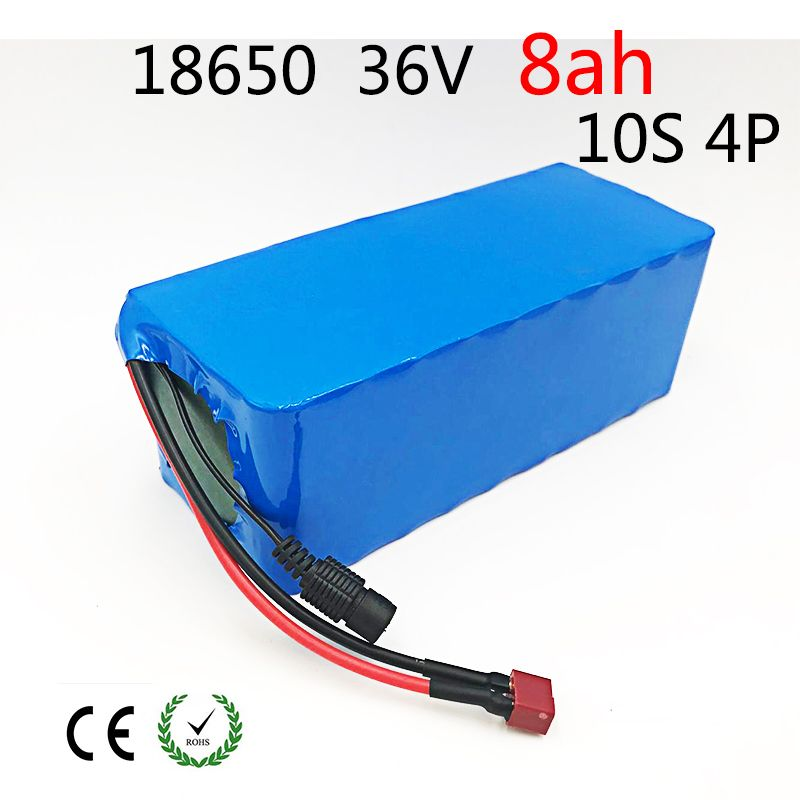 10S 4P 36V 8ah 8000mAh 500W High Power and Capacity 42V 18650 Li-Ion Battery Motorcycle Electric Car Bicycle Scooter with BMS