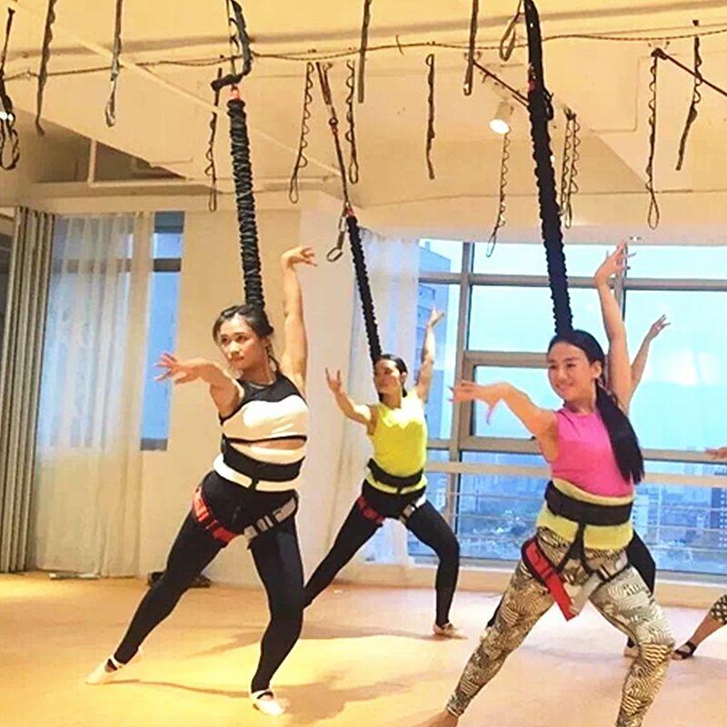 Schwere Bungee-seil Widerstand Gürtel Für Home Gym Yoga Bungee Seil Schwerkraft Bungee 4D Training Pro Werkzeug für Home Gym studio