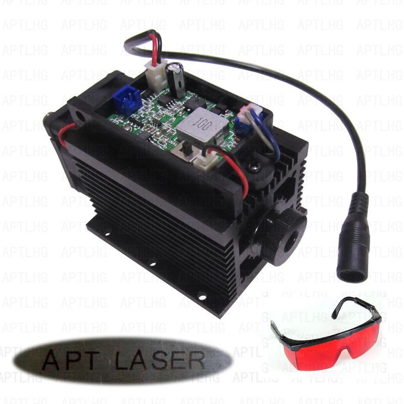 Laser Head DIY CNC Machine Cutte Focusable TTL/PWM/Analog 450nm 15W 15000mW laser module blue Engrave stainless steel iron stone