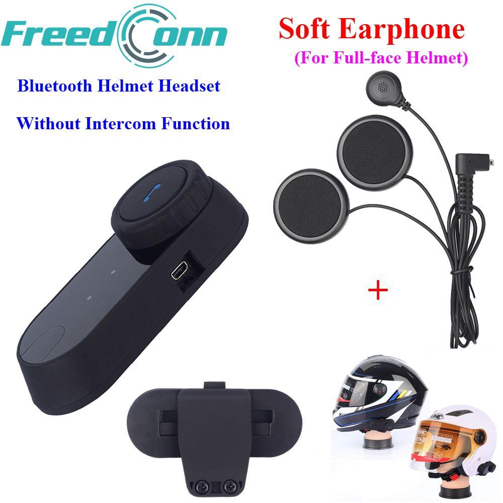 Écouteurs de casque de Moto Bluetooth casque de Moto gratuit sans fonction d'interphone avec micro souple pour casque fermé intégral