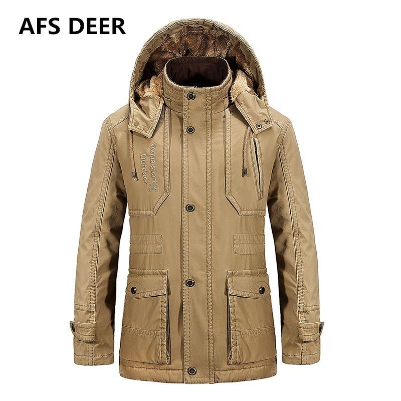 2017 Brand Men Winter Fleece Warm Jacket Men Hooded Coat Men Down Cotton Padded Clothes Jackets Male Duck Down Hooded Coats Man