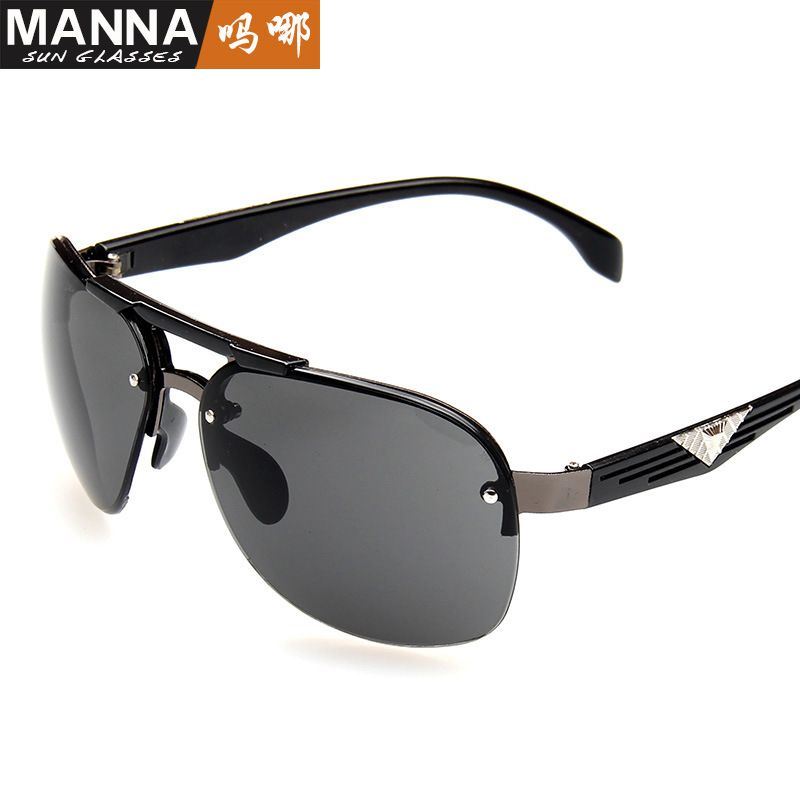 New sunglasses men's retro large frame clam goggles men's sunglasses anti-ultraviolet <font><b>glasses</b></font> wholesale