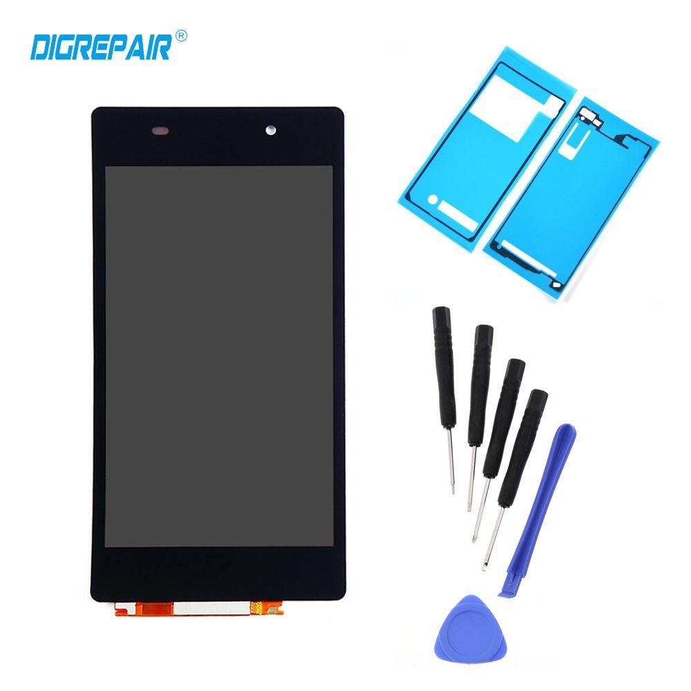Noir Pour Sony Xperia Z2 L50W D6502 D6503 LCD Affichage Écran Tactile Panneau de Remplacement Assemblée Complet Digitizer Téléphone Réparation Partie