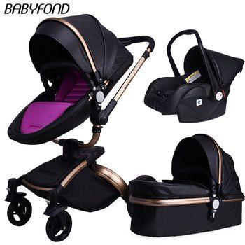 25 usd Coupon! Babyfond Baby Wagen 360 Grad Rotierenden baby kinderwagen marke 2 in 1 baby Kinderwagen 3 in 1 leder wagen Aluminium
