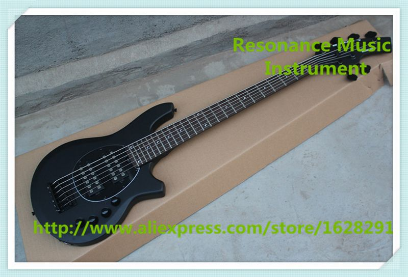 High Quality Matte Black Finish 6 String Musicman Bongo Electric Bass Guitars For Sale
