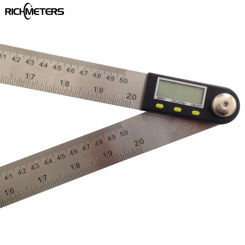 500mm Digital Protractor Inclinometer Goniometer Level Measuring Tool Electronic Angle Gauge Stainless Steel Angle Ruler