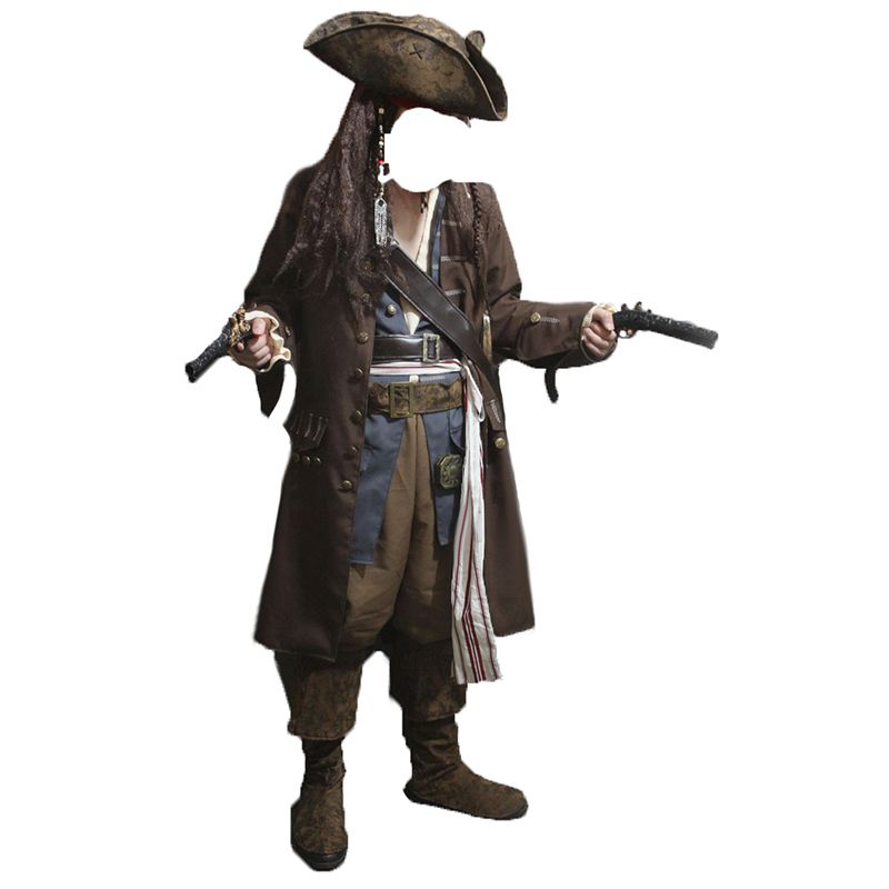 Caribbean Pirate Adult Men Grand Heritage Collection Deluxe costume Jack Sparrow luxury coat set
