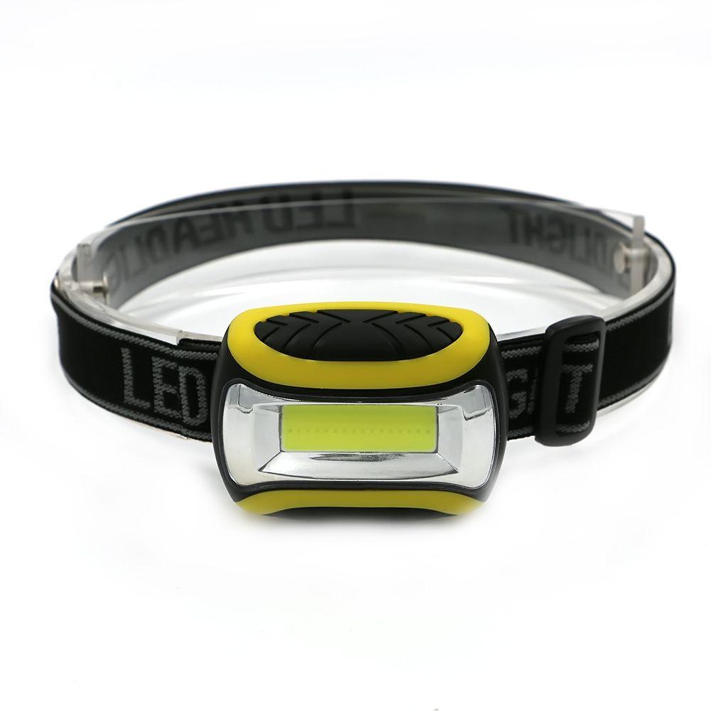 Mini 3 Modes Waterproof COB LED Flashlight outdoors Headlight Headlamp head light lamp Torch Lanterna with Headband,Use AAA