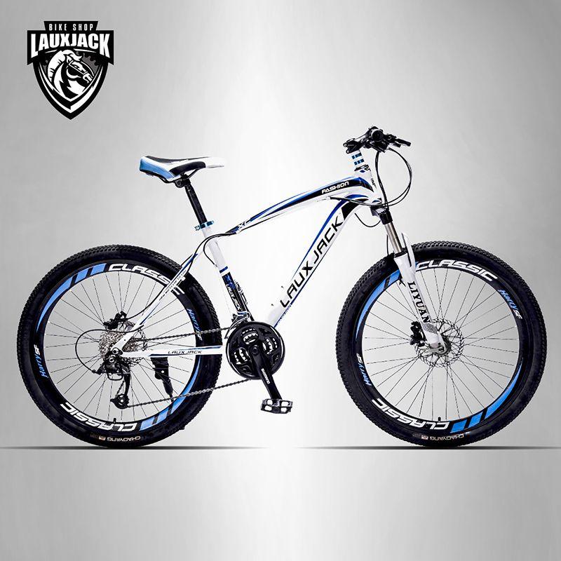 LAUXJACK Горный велосипед стальная рама 24 скорости Shimano механические дисковые тормоза 26