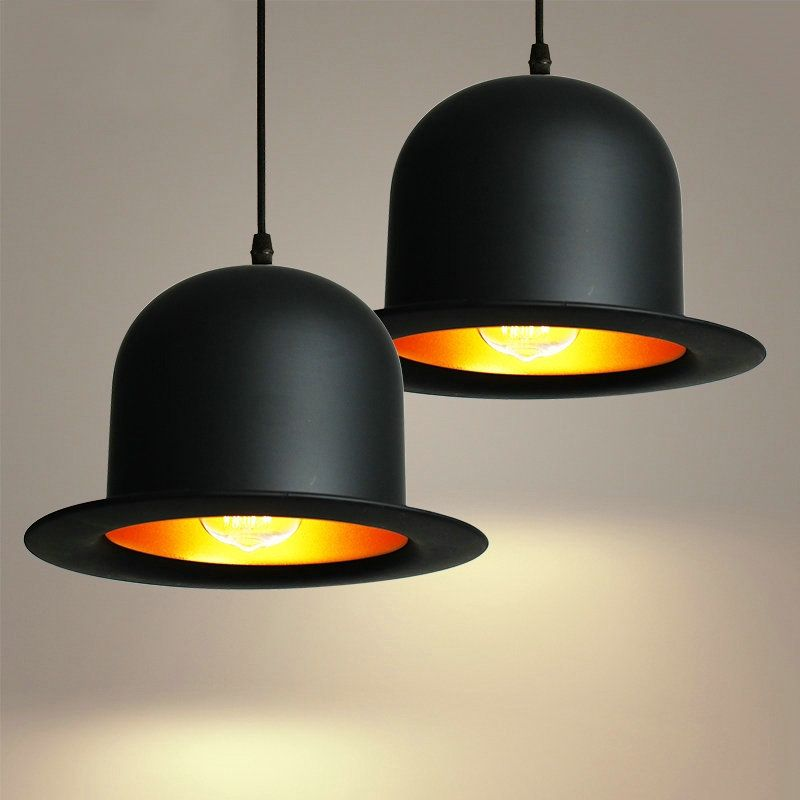 Hat shape Tom musical instrument pendant light small vintage restaurant lamp bar pendant lamps for wholesale supplier