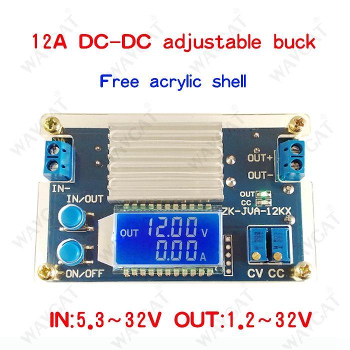 12A tension constante courant constant LCD numérique de la tension actuelle affichage réglable step-down module d'alimentation