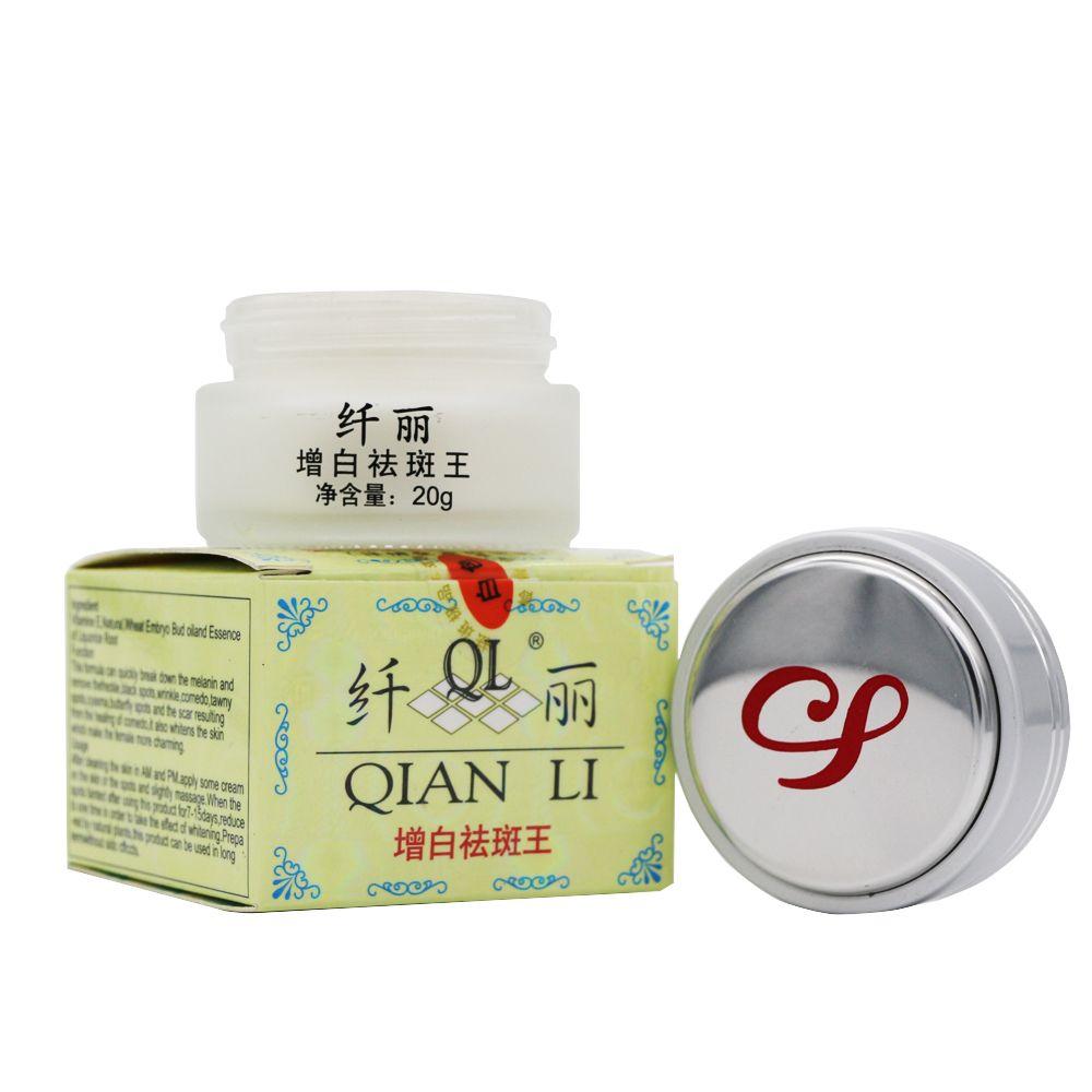 QIAN LI crème blanchissante puissante 20g supprimer les taches de rousseur melasma pigment mélanine acné cicatrices crème de soin du visage crème Dimollaure
