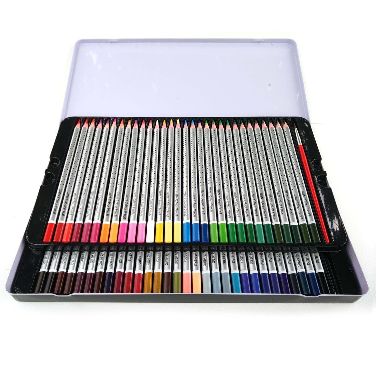 Hero 72 crayons De couleur artiste croquis Lapices De 72 couleurs jardin Secret bois naturel non toxique aquarelle crayon en gros