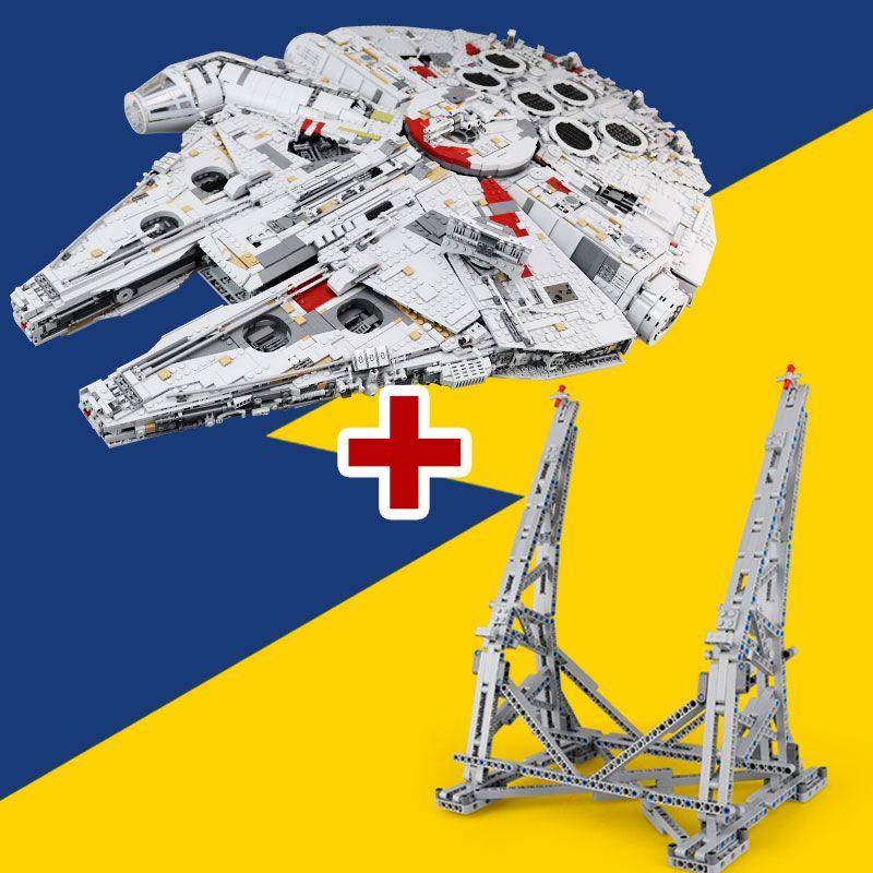 Lepin 05132 New Ultimate Collector's Destroyer Star Series Building Blocks Bricks Ucs Millennium Falcon LegoINGlys 75192 Wars