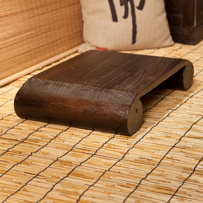 Japanese Antique Low Stool Bench Chair Paulownia Wooden Asian Traditional Furniture Living Room Portable Stand Vintage Stool