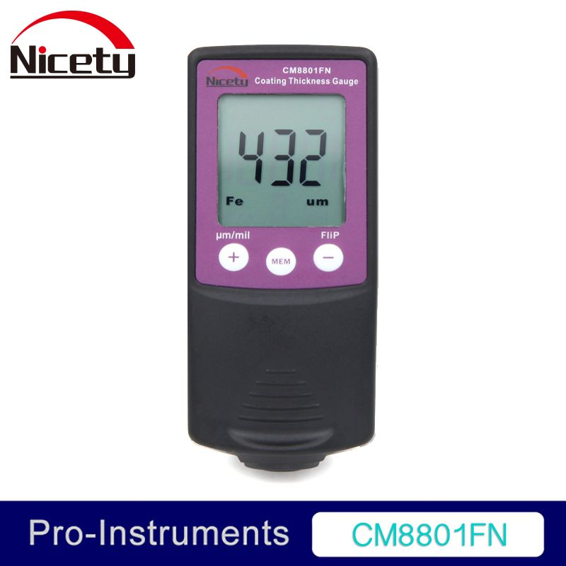 Nicety CM8801FN Fe and NFe 2 in 1 Car Body Paint Gauge Coating Thickness Meter Film Thickness Tester