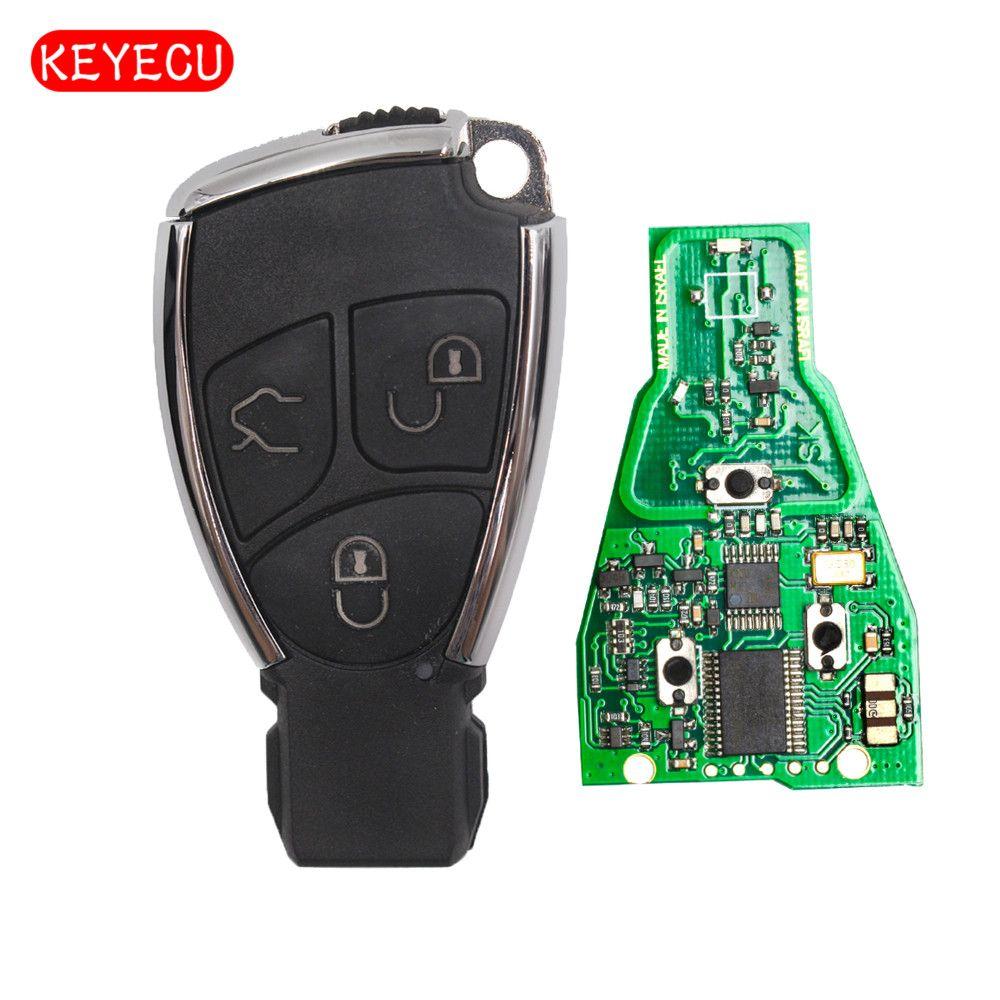 Keyecu Smart-Remote-Key Fob 3 Taste 315 mhz/433 mhz für Mercedes-Benz + Uncut Klinge