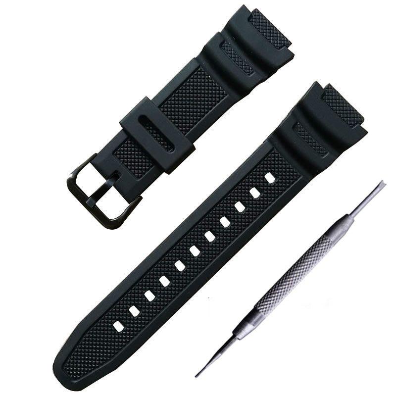Armband konvexen PU strap 18*25mm gummi silikon armband Für AQ-S810W AE-1000 1200 w sgw-300 400 h mrw-200h