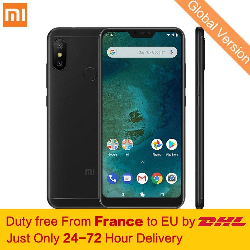 Free tax! Global Version Xiaomi Mi A2 Lite 4GB 64GB Mobile Phone 5.84
