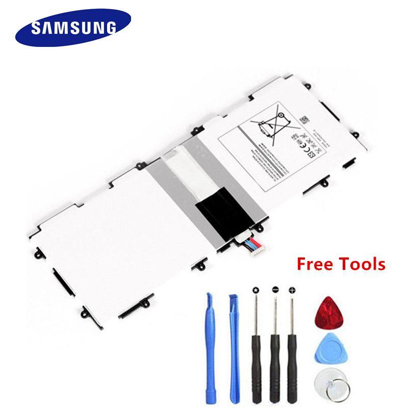 Original Samsung Batterie T4500E Für Samsung Tab 3 10,1 Tablet Batterie GT-P5210 P5200 P5220 P5213 T4500E 6800 mAh + werkzeuge