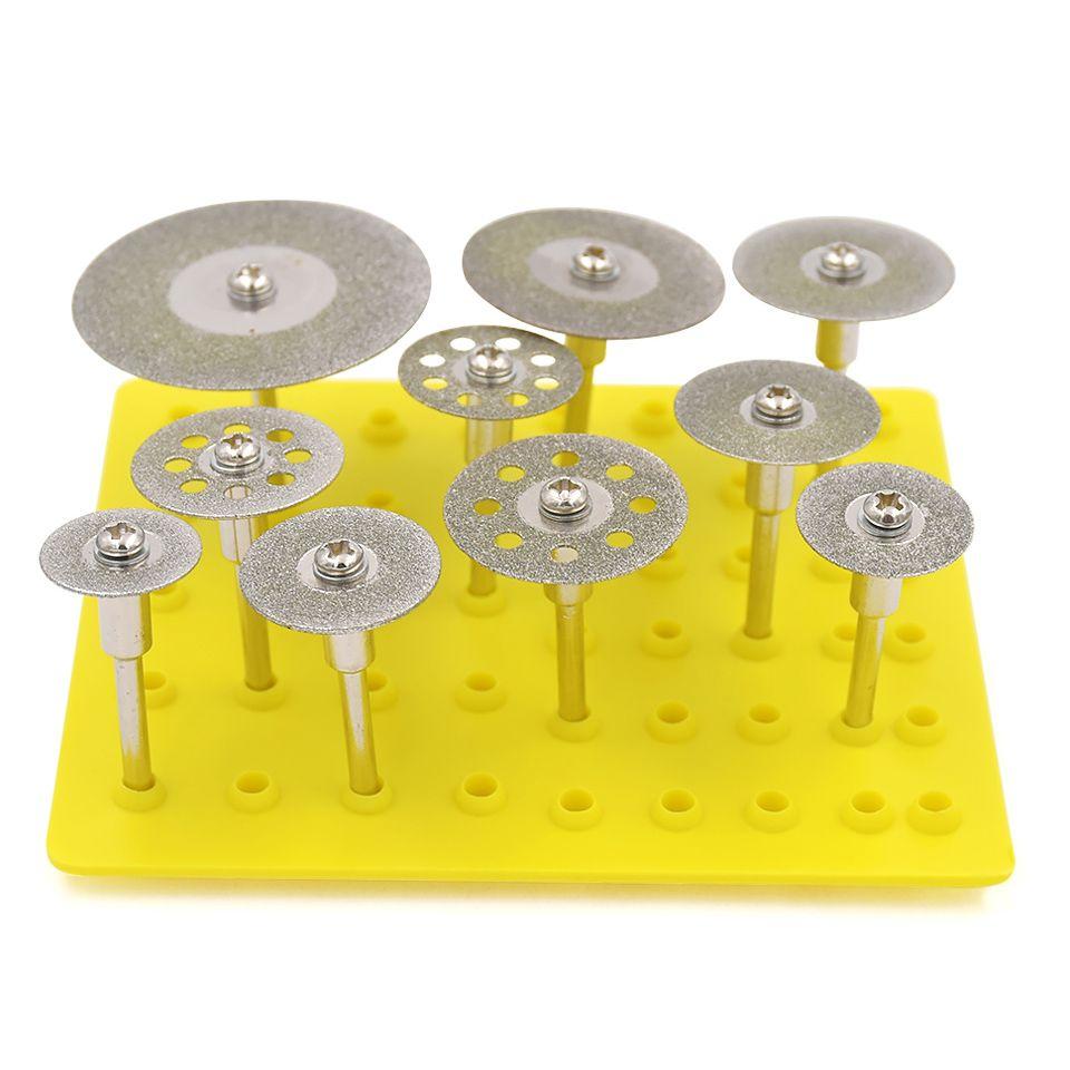 10 pièces meule diamantée pour Dremel lame de scie Mini scie circulaire disque de coupe pour Dremel outils diamant disque coupe roue