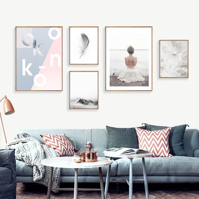 Nordic Плакаты и печать на холсте фотографии морской Картины для Гостиная украшение стены холст Книги по искусству без рамы