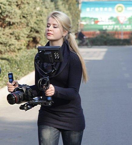 DSLR plate-forme film Kit épaule support de montage facile pour caméra de prise de vue/DV 6D 5D Mark III 5DIV 6D D810 D610 D700 D800