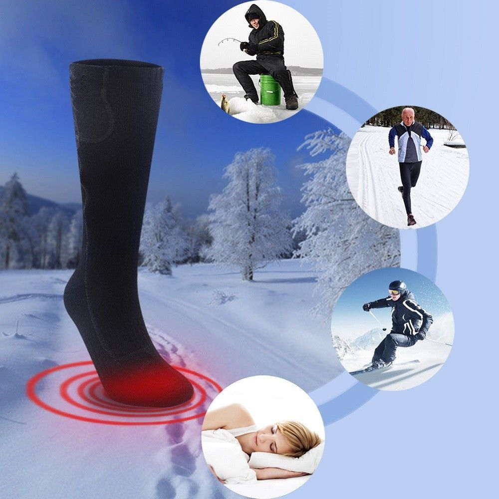 2018 Newest Fashion Design Electric Battery Heated Socks Feet Warmer Heater Ice Foot Shoe Boot Warm Accessories