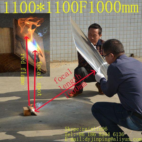 Große größe 1100*1100mm brennweite 1000mm fresnel-linse volle og nut pitch mit 4 ecken Solar konzentrator objektiv solarenergie