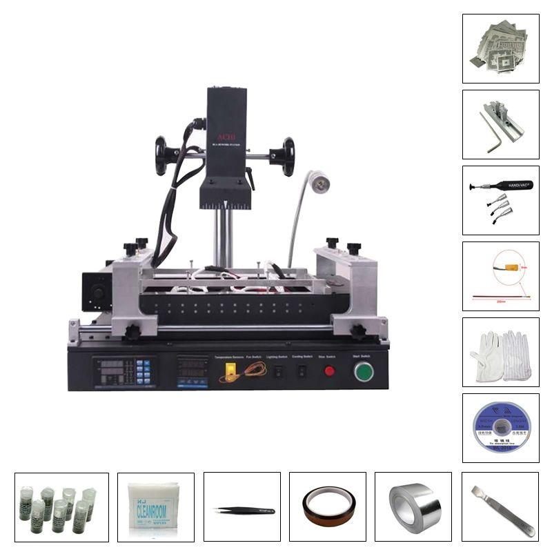 ACHI IR PRO SC infrared BGA Soldering Rework Station with 119pcs direct heating stencils bga reballing kits