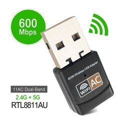 600 Mbps Wireless USB adaptador wifi AC600 2,4 GHz 5 GHz WiFi antena Mini PC receptor tarjeta de red Dual banda 802.11b/n/g/ac