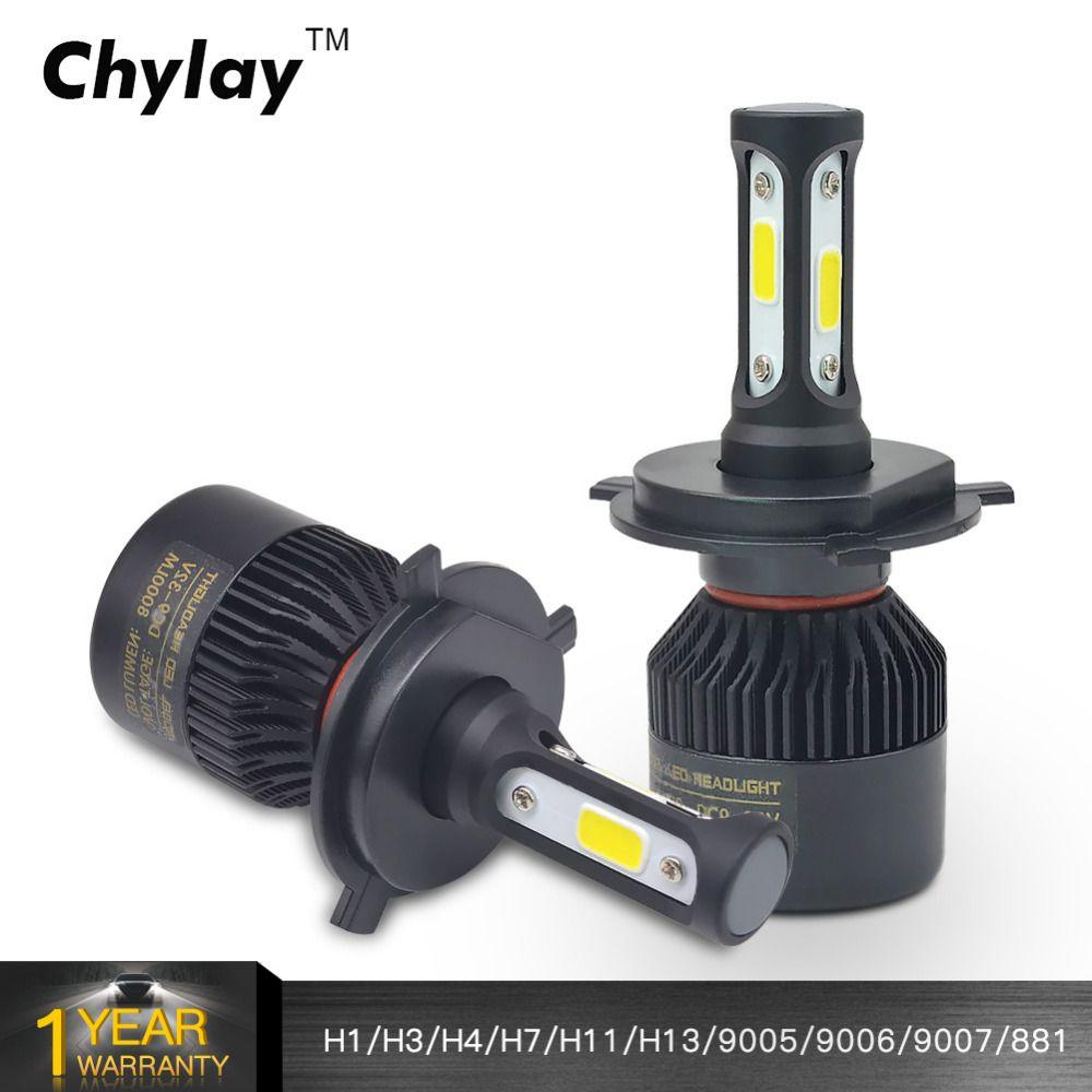 H7 Led H4 H1 H3 H11 H8 H9 H13 9005 9006 9007 881 LED Car Headlights 72W 8000LM Automobile <font><b>HeadLamp</b></font> Fog Light Bulb 6500k