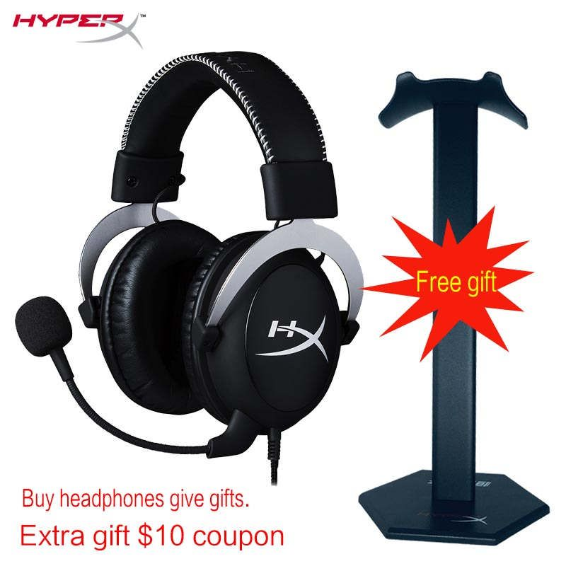 KINGSTON HyperX Cloud series Gaming Headset Suitable for computer phone tablet <font><b>Headphones</b></font> With microphone