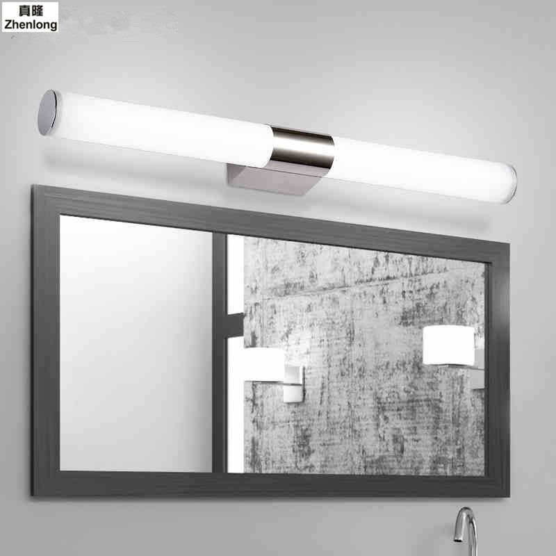 L40/46/60/80/100cm Modern LED Make-up Mirror Light Bathroom Tube Wall Lamp 8/10/12/16/24W 360 Abajur Para Quarto Cylinder Hotel
