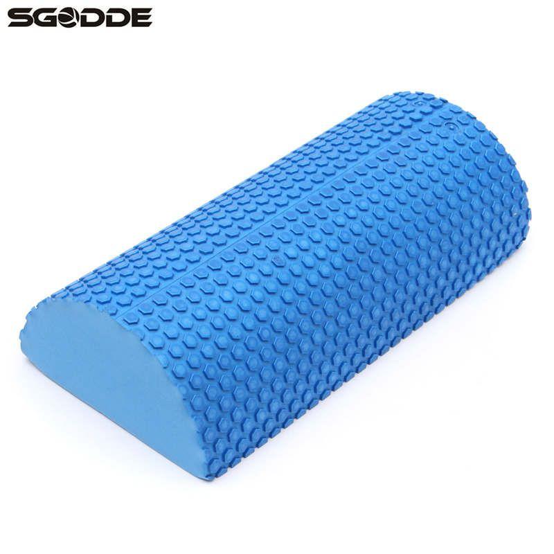 30cm Half Round EVA foam Yoga roller Pilates Fitness Foam Roller Gym Exercise Fitness Yoga Blocks With Massage Floating Point