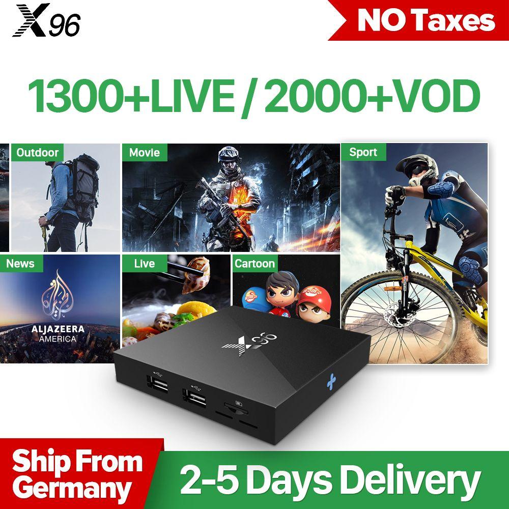 X96 IPTV French Box Android 6.0 S905X 2G with IPTV 1 Year QHDTV Subscription IPTV Arabic France Belgium Netherlands Morocco Box