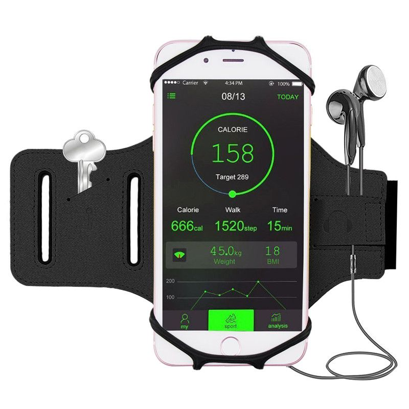 180 Degree Rotatable Sports Armband For 4.0-6.0 Inch Cellphone for iPhone 7/7 Plus/6/6S/Samsung Galaxy S8/S8 Plus/S7/S7 Edge