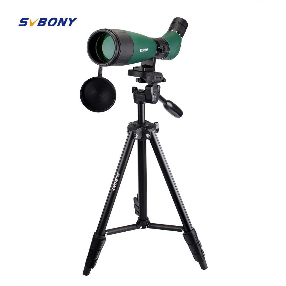 SVBONY SV18 Spotting Scope 20-60x60 Monocular Telescope Compact Shooting Hunting Archery Birdwatch with 54'' Long Tripod F9327