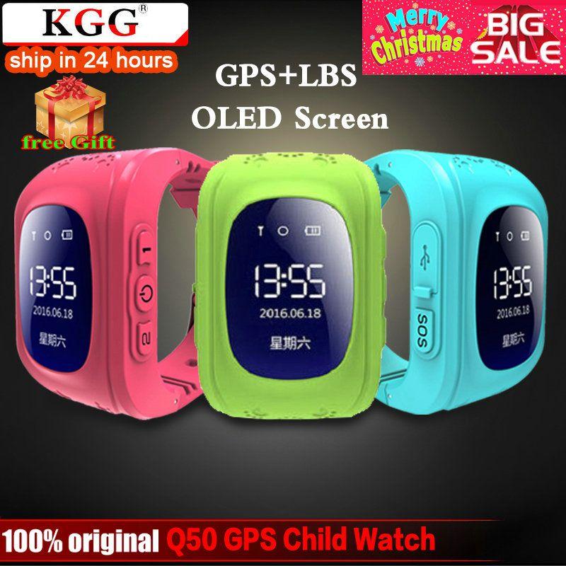 KGG Anti Perdu Q50 OLED Enfant GPS Tracker SOS Surveillance Intelligente Positionnement Téléphone Enfants GPS Bébé Montre Compatible IOS et android