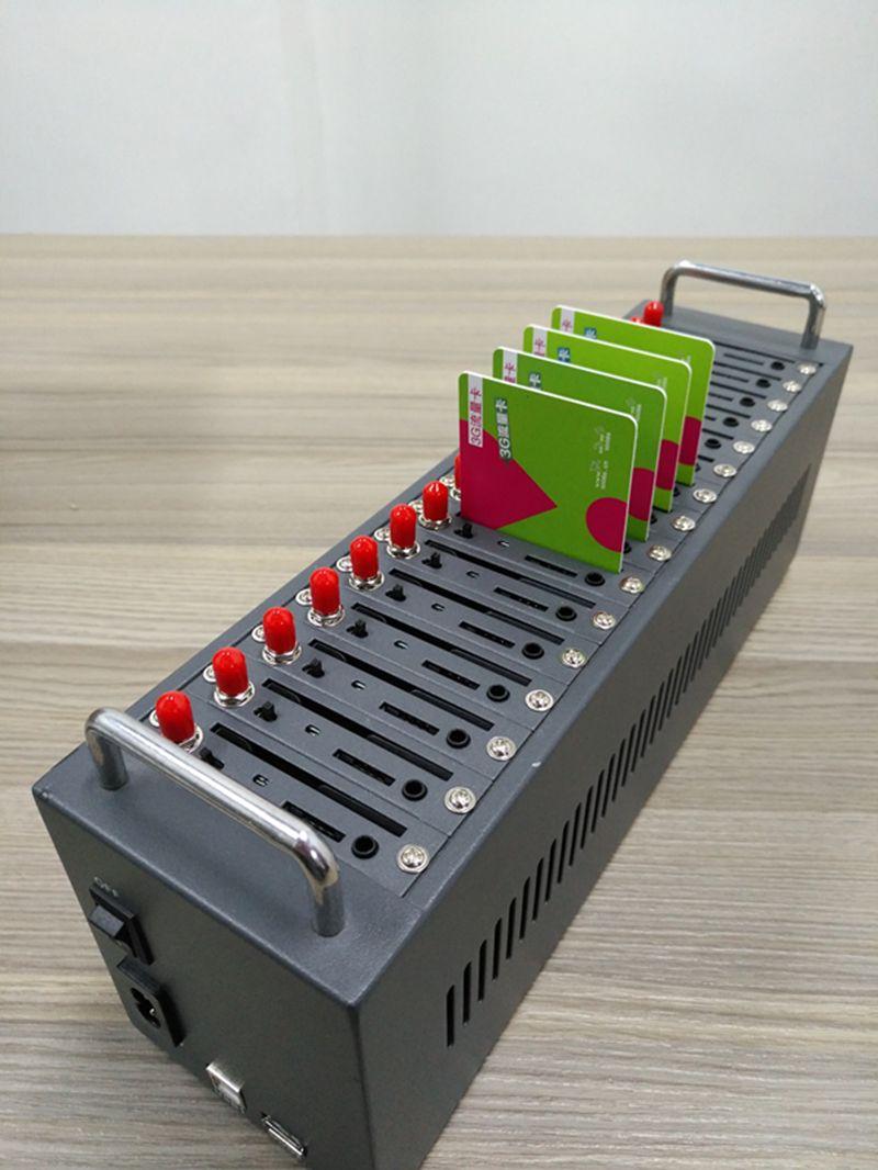Gute Qualität Antecheng SIM7100 LTE 4G Modem Pool, 16 Port Massen-sms Modem-Pool, USB AUF Befehl IMEI Ändern 4G 16 Portmodemlache