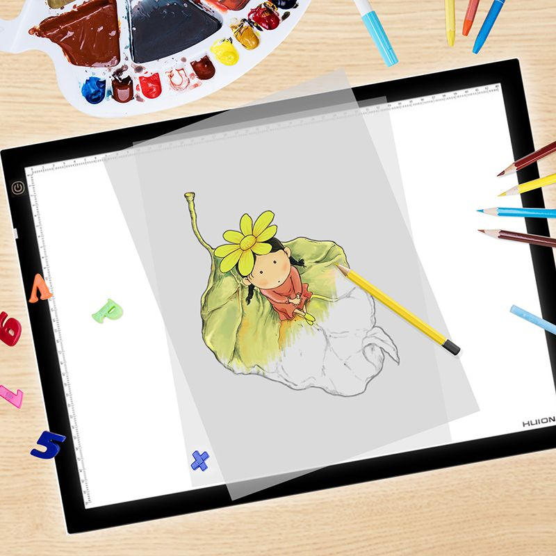 HUION A3 Adjustable LED Light Pad Ultra Thin Graphic Drawing Tablets Copy Board For Tattoo Stencil Picture Tracing Painting