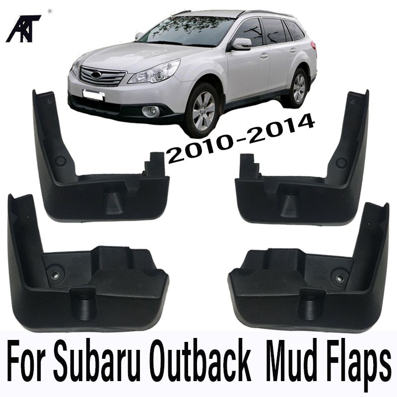 Car Mud Flaps For Subaru Outback 2010-2014 Mudflaps Splash Guards Mud Flap Mudguards Fender Front Rear Styling 2011 2012 2013
