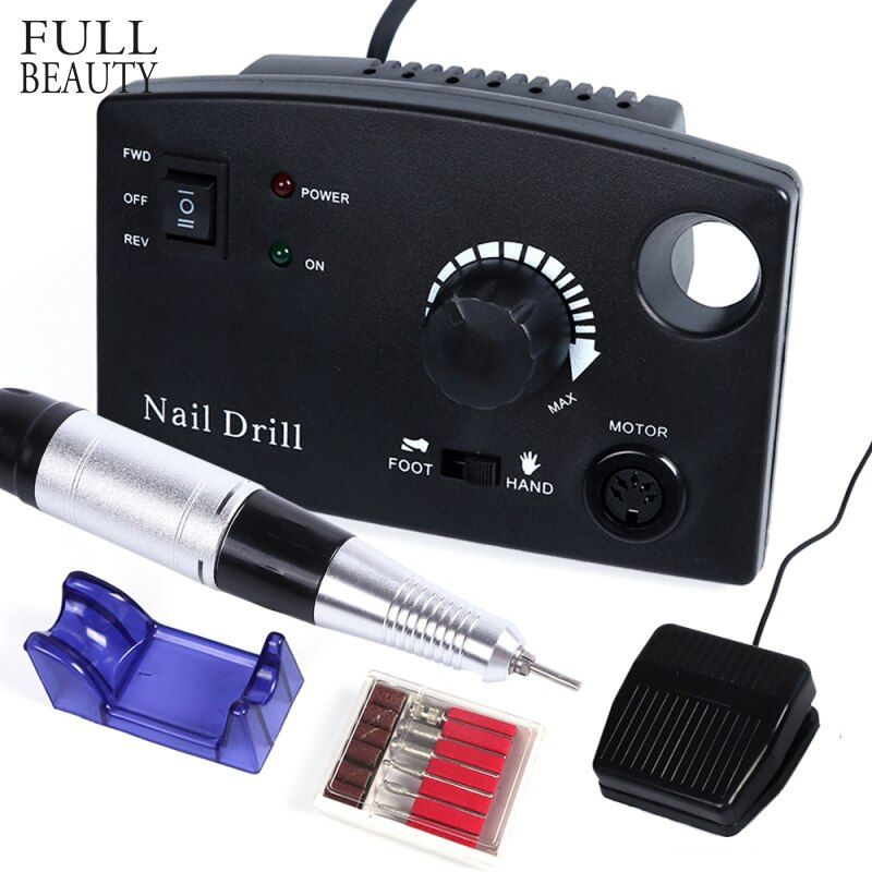 Full Beauty 30000RPM Nail Drill Electric Machine Kit Salon Manicure Pedicure Files Accessory Polisher Cutter Device Tool CHdr402